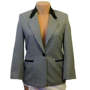Talbots petites wool black & white blazer size 8P